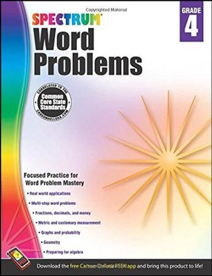 Spectrum Word Problems Grade 4  -