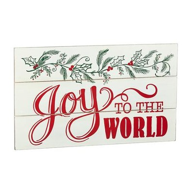 Joy to the World Wall Plaque  -