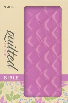 NIV Thinline Quilted Collection Bible, Italian Duo-Tone, Strawberry Cream - Slightly Imperfect  -