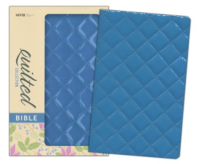 NIV Thinline Quilted Collection Bible, Italian Duo-Tone, Blueberry  -