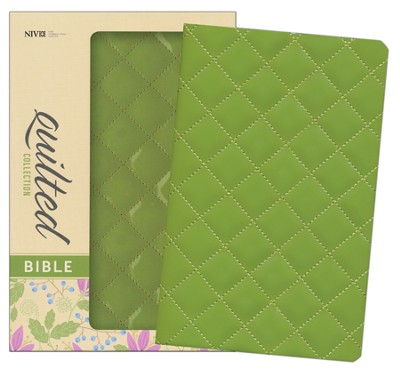 NIV Thinline Quilted Collection Bible, Italian Duo-Tone, Kiwi   -