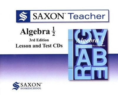 Saxon Teacher for Algebra 1/2, 3rd Edition on CD-ROM   -