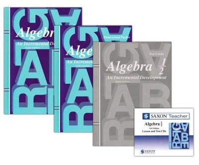 Saxon Algebra 1/2 Homeschool Kit & Saxon Teacher CD-ROM, 3rd Ed.   -