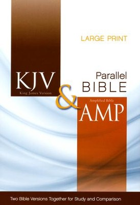 KJV and Amplified Side-by-Side Bible, Large Print - Slightly Imperfect  -