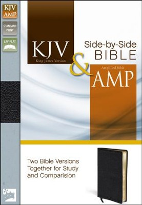 KJV and Amplified Side-by-Side Bible, Bonded Leather, Black  -