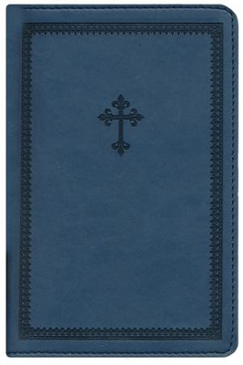NIV Thinline Bible, Compact, Italian Duo-Tone, Slate Blue  -