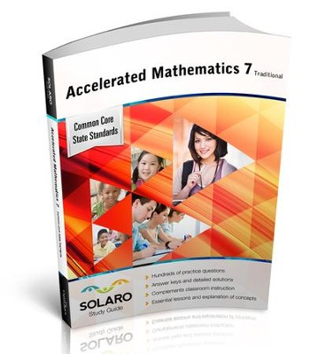Solaro Study Guide Accelerated Mathematics 7 (Traditional)  -