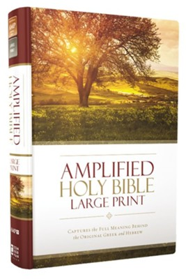 Amplified Large-Print Bible, hardcover   -