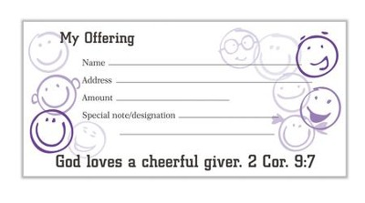 Cheerful Giver Offering Envelopes, Pack of 100, Bill Size  -