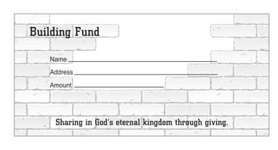 Building Fund Offering Envelopes, Pack of 100, Bill Size  -