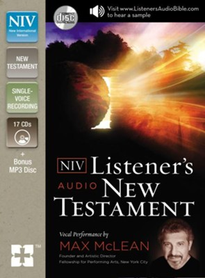 NIV Listener's New Testament on CD  -     Narrated By: Max Mclean