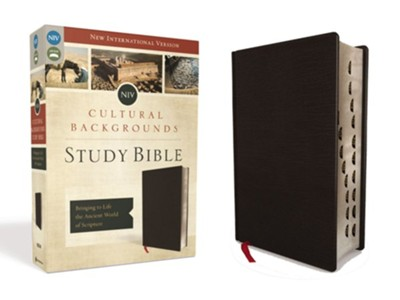 NIV Cultural Backgrounds Study Bible, Bonded Leather, Black Indexed  -     By: Craig Keener, John Walton