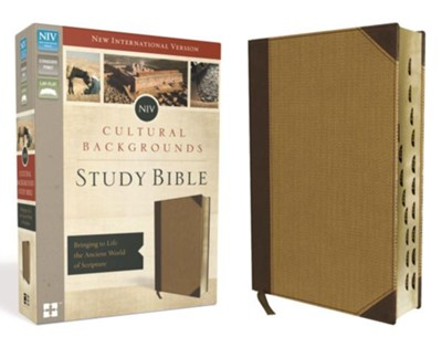 NIV Cultural Backgrounds Study Bible, Imitation Leather, Brown/Tan Indexed  -     By: Craig Keener, John Walton