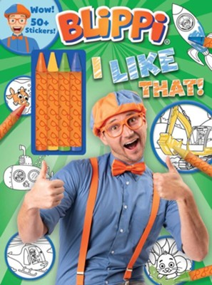 Blippi: I Like That! Coloring Book With Crayons  -