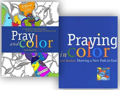 Pray & Color / Praying in Color - 2 Pack  -     By: Sylvia MacBeth