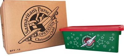 Christmas Child Boxes.Operation Christmas Child Shoebox 12 Plastic Boxes Lids