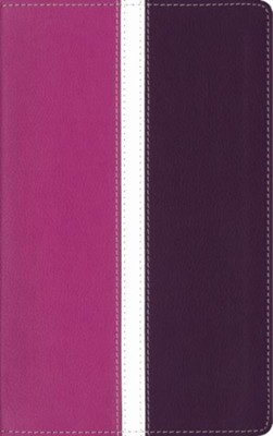 Amplified Holy Bible--soft leather-look, dark orchid/deep plum (indexed)  -