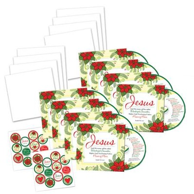 Jesus CD/Christmas Greeting Cards, Pack of 10    -