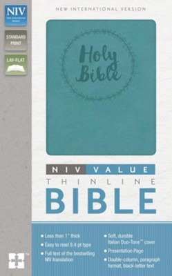 NIV Value Thinline Bible--soft leather-look, turquoise  -     By: Zondervan