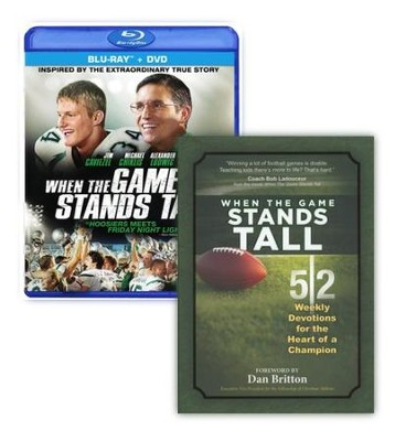 When the Game Stands Tall BONUS Pack - includes the  Blu-Ray/DVD Combo plus companion devotional book  -