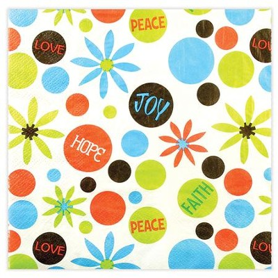 Peace Love Joy Napkins, Pack of 20  -