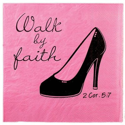 Walk By Faith Napkins, Pack of 20  -