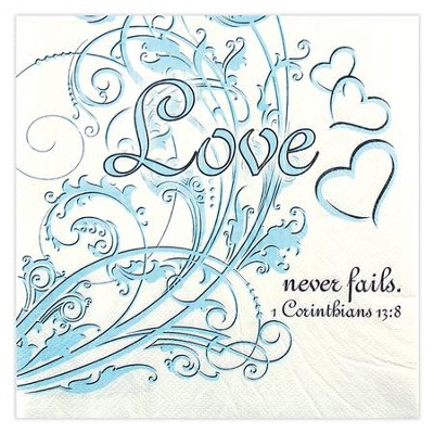 Love Never Fails Napkins, Pack of 20  -