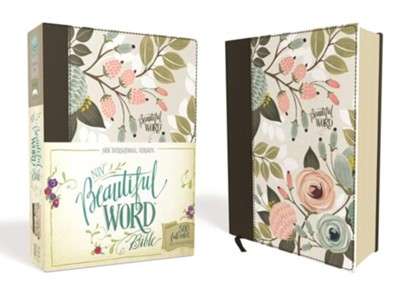 NIV Beautiful Word Bible--clothbound hardcover, multicolor floral - Slightly Imperfect  -
