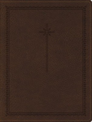 NIV Journal the Word Bible--soft leather-look, brown  -