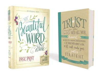 NIV Beautiful Word Bible, Large Print, Hardcover   -