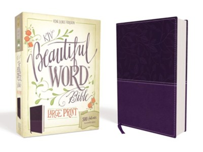 KJV Beautiful Word Bible, Large Print, Imitation Leather Purple  -