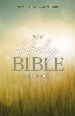 NIVLarger Print Holy Bible--softcover with nature design  -     By: Zondervan