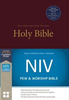NIV Pew and Worship Bible--hardcover, burgundy  -