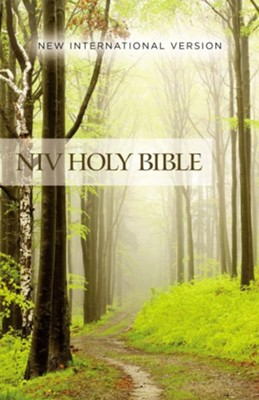 NIV Value Outreach Bible--softcover, green forest path  -     By: Zondervan