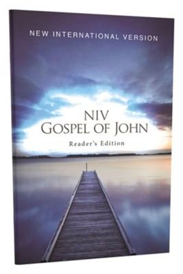 NIV Gospel of John, Reader's Edition--softcover, blue pier  -     By: Zondervan