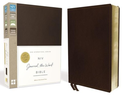 NIV Journal the Word Bible, Genuine Leather, Brown   -