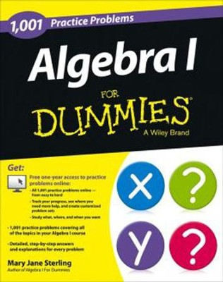 1001 Algebra I Practice Problems For Dummies  -     By: Mary Jane Sterling