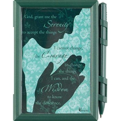 Serenity Prayer Memo Pad and Pen  -