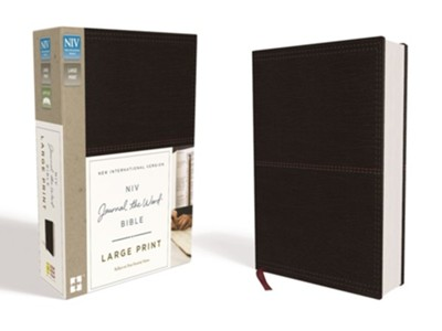 NIV, Journal the Word Bible, Large Print, Imitation Leather, Black  -     By: Zondervan