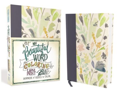 NIV, Beautiful Word Coloring Bible, Large Print, Hardcover, Floral  -