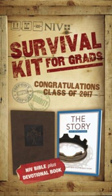 NIV 2017 Survival Kit for Grads, Guys' Edition, Brown   -