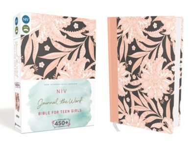 NIV Journal the Word Bible for Teen Girls Pink Floral, Hardcover  -