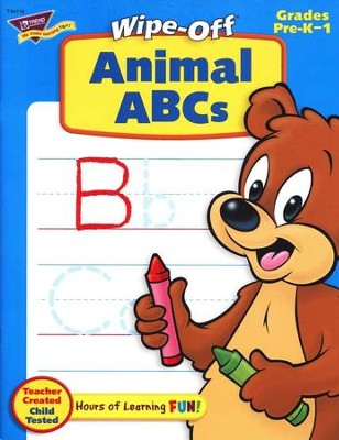 Animal ABCs Wipe-Off Books  -