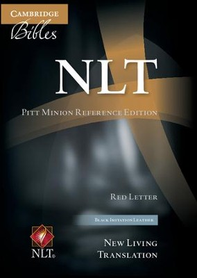 NLT Pitt Minion Reference Bible, Red Letter, Black Imitation Leather  -