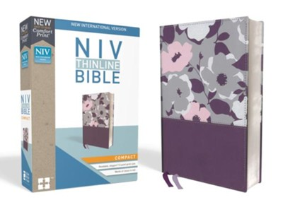 NIV Thinline Bible Compact Purple, Imitation Leather  -