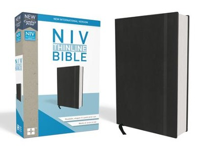 NIV Thinline Bible Black, Hardcover  -
