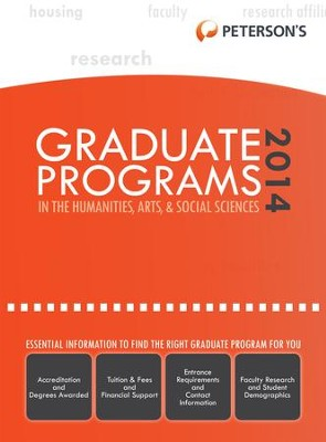 Graduate Programs in the Humanities, Arts & Social Sciences 2014 (Grad 2) - eBook  -