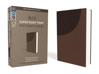 NIV Super-Giant Print Reference Bible--soft leather-look, brown  -     By: Zondervan