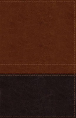 NIV Comfort Print Reference Bible, Giant Print, Imitation Leather, Brown, Indexed  -