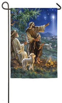 Shepherds Afield Flag, Small  -     By: Dona Gelsinger